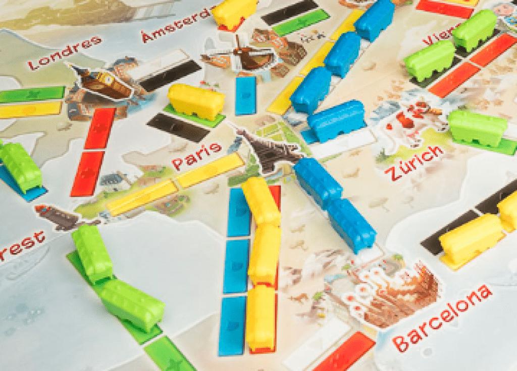 juego de mesa aventureros al tren mi primer viaje